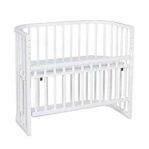 Бебешка дървена кошара / Странично легло Babybay, бял