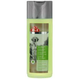 8in1 - Шампоан за кучета с масло от чаено дърво, креатин, алое вера и омега 3, 250ml