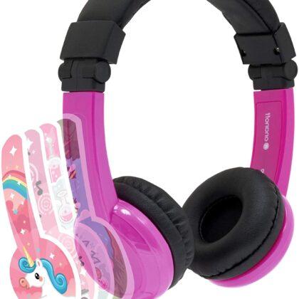 Детски слушалки с вграден сплитер и микрофон – Розови