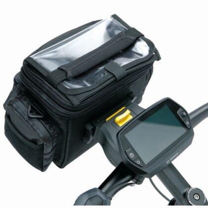 Стойка за мотоциклет и велосипед за чанти на кормилото